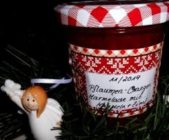 Pflaumen- Orangen Marmelade mit Mandeln, Zimt und Bittermandelaroma