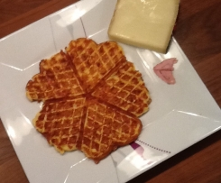 Schinken-Käse Waffeln ohne viel Schnickschnack