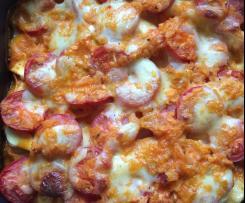 Tomaten-Mozzarella-Auflauf