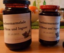 Brombeerkonfitüre mit Ingwer und Birne