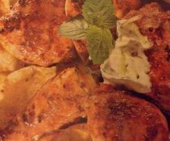 Tandoori-Chicken mit Gurken-Raita