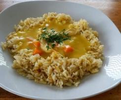 Hühnerfrikassee a la Sonja mit Reis
