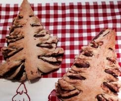 Weihnachtsbäume - Tannenbäume mit Nutella Füllung