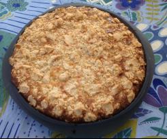 Rhabarber-Apfel-Kuchen mit Joghurtguss und Streuseln
