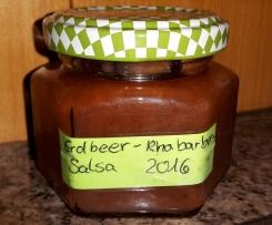 Rhabarber Erdbeer Salsa