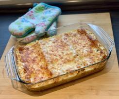 Gemüse-Lasagne mit Frischkäse-Schmand-Sauce