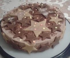 Schokolade-Reis-Torte mit Zimt