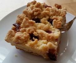 Kirsch/Apfel-Streuselkuchen mit Quark vom Blech