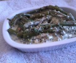Salat aus Grünem Spargel