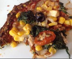 Zucchinipizza Boden / Low carb und Glutenfrei