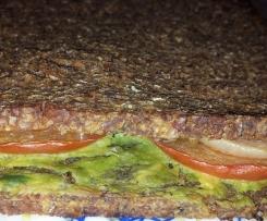 Avocado - Ofen - Sandwich, vegan, gesund, lecker!