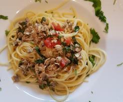 Gerrys Venusmuscheln vereint mit köstlichen Koriander-Spaghetti