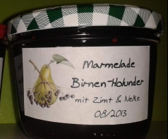 Birnen-Holunder-Marmelade