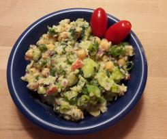 WW Kichererbsen-Gurken-Salat mit Avocado-Dressing