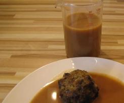 Bratensosse vegetarisch mit Röstzwiebeln