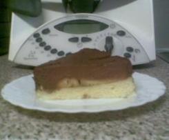 Mousse au chocolat-Kuchen mit Bananen (Birnen)