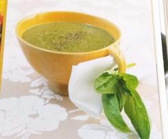 Basilikumcremesuppe mit weißen Bohnen | VEGAN | superschnell und gesund!!