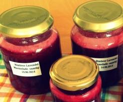 Himbeer Lavendel Marmelade -samtig-