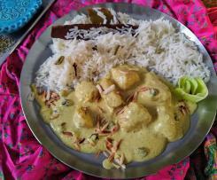 Mughlai murgh (indisches Huhn nach Mogul Art)