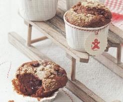 Lebkuchen-Preiselbeer-Muffins
