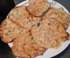 Reibekuchen aus kartoffeln/Zucchini vom Backofen