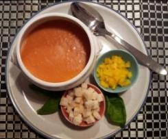 Gazpacho - span. kalte Gemüsesuppe