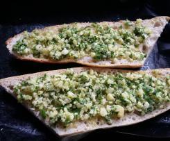 Knoblauch Baguette mit Käse