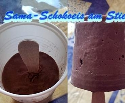Sattmacher-Schokoladeneis am Stiel