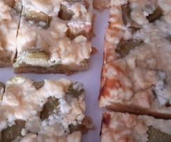 Rabarbersreuselkuchen