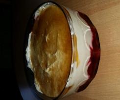 Himbeere mascarpone dessert