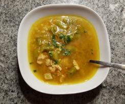 Gemüsesuppe mit Putenfleisch à la Thermiküche Maichingen