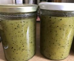 Zucchini-Zitronen-Ingwer-Marmelade