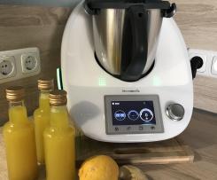 Ingwer-Zitronen Sirup mit Thymian und Kurkuma