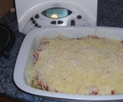 Variation von Cannelloni zweierlei gefüllt mit Tomaten- und Käsesoße