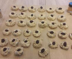 Weiße Schoko-Crossies mit Cranberries & Cornflakes ohne backen Plätzchen