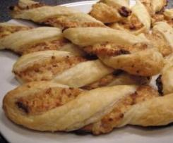 Käse-Schinken-Kringel (Blätterteiggebäck)