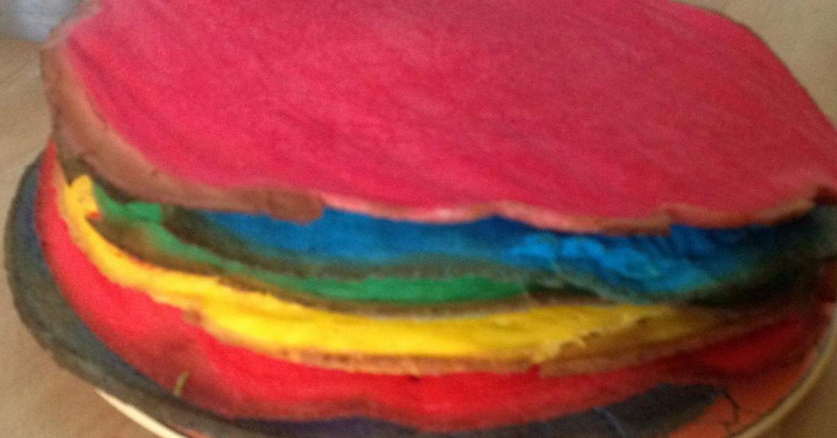 Regenbogenkuchen Hit Am Kindergeburtstag Klein Gross Von Na Dja