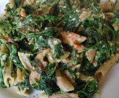 Pasta mit Spinat und veganer Käsesauce - vegan - veggie - fitness - gesund