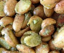 Pesto-Kartoffeln mit Grana Padano