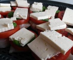 Pute mit Tomate und Feta, Gemüse und Kartoffeln