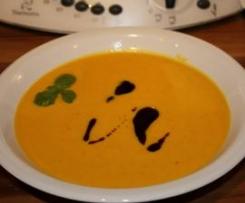 Kürbis-Käse-Suppe