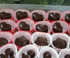 Schokoladen-Orangen Pralinen mit Mandel-Krokant