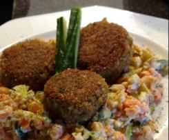 Noridelle - Frikadelle mit Norialgen und Tofu (vegan)