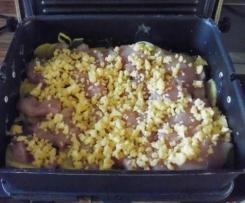 Kartoffelgratin mit Hähnchen