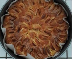Obstkuchen mit zwei Böden