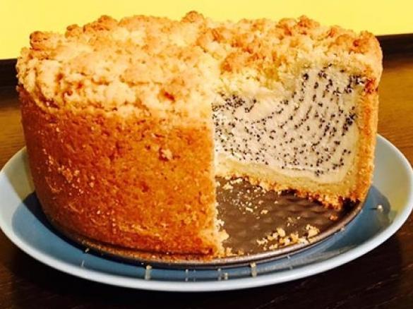 Mohn Streusel Quark Kuchen Knusperstubchen Von Wishni Ein