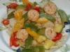 Chinesisches All-In-Menue Garnelen mit Gemüse und Reis, low fat