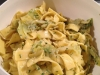 Nudeln mit Spitzkohl und Pesto