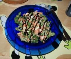 Feldsalat mit Möhren, Ei & Balsamicodressing