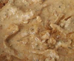 Variation Hähnchen in Zwiebel-Sahne-Soße